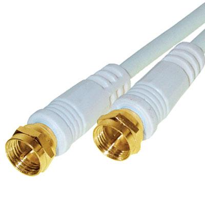 10m sat kabel 2 f stecker vergoldet koax satelliten antennenkabel 100db wei ebay. Black Bedroom Furniture Sets. Home Design Ideas