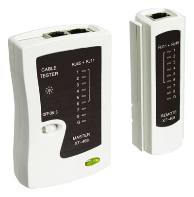 XT-468 - Network tester for RJ11, 12, 45.