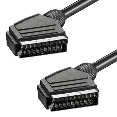 high end scartkabel doppelt geschirmt scart kabel 0 5m ebay. Black Bedroom Furniture Sets. Home Design Ideas