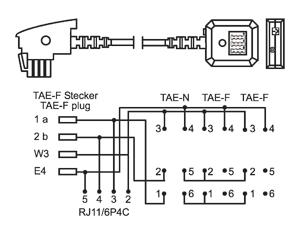 1 tae verl ngerung f stecker auf nff dose rj11 buchse 6p4c belegung adapter ebay. Black Bedroom Furniture Sets. Home Design Ideas